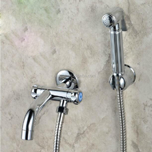Wholesale And Retail Wall Mounted Chrome Bathroom Clearing Faucet Toilet Sprayer Mop Faucet For Cold Faucet Tap