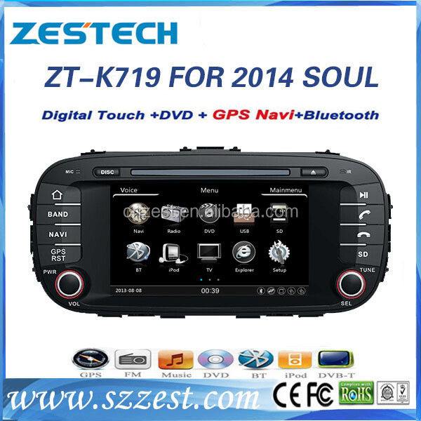 fit for kia soul 2014 car dvd player with dvd/cd player gps navigation system