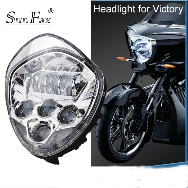 2017 New arrive! For Polaris Victory Motorcycle BLACK LED headlight motorcycle in automobiles & motorcycles