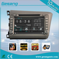 3G WIFI Car GPS Navigation Car Audio Multimedia double din Car DVD Player for HONDA CIVIC 2012