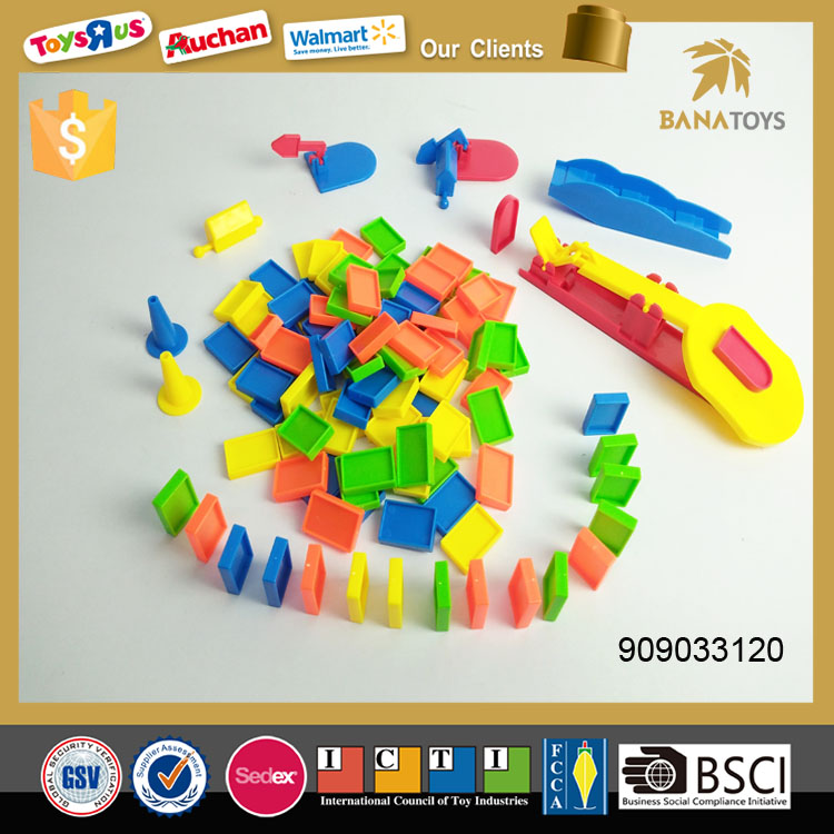 Hot plastic domino game set toy for kids