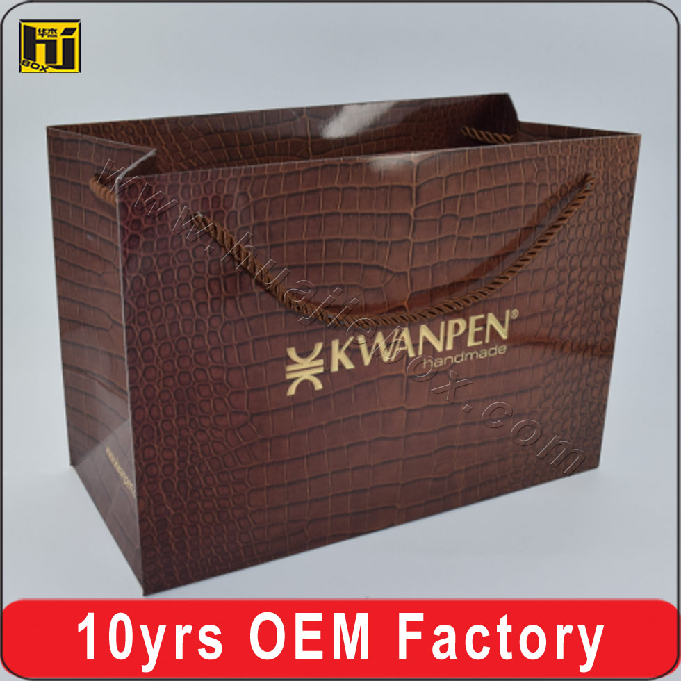 Custom Logo Shopping Gift Paper Bag Rope Handle For Clothing