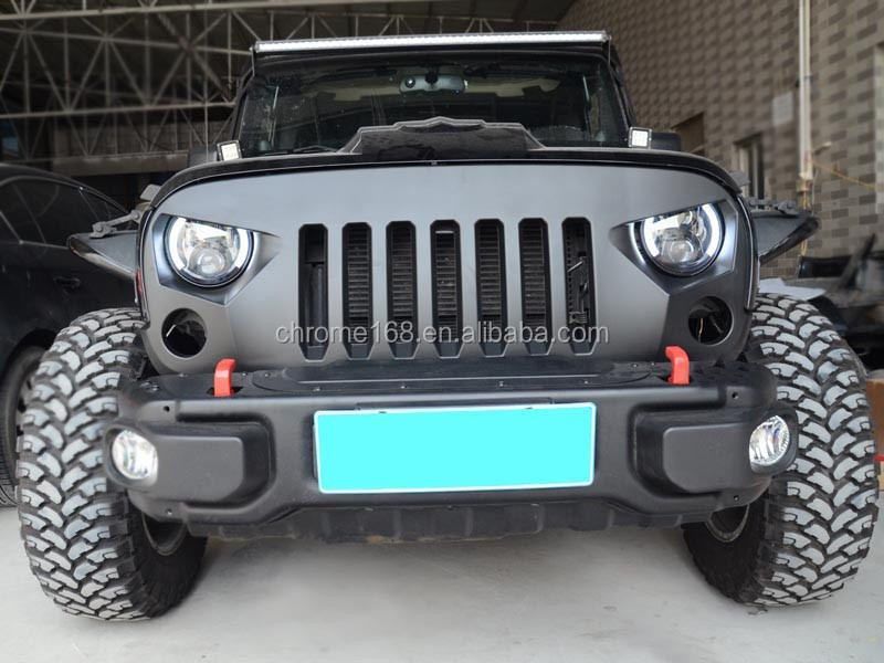 spare parts For Jeep wrangler JK 07 Front grille offroad accessories for jeep spare parts