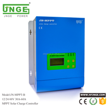 MPPT solar panel charge controller 30A 40A 50A 60A 12V 24V 48V auto JNGE factory direct sales