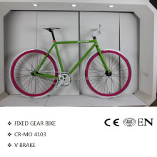 High quality 700c fixed gear single speed bike bicycle chromoly CR-MO frame
