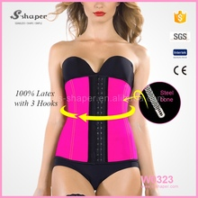S-SHAPER Latex Waist Trainer,Pink Colour Latex Waist Underbust Corset