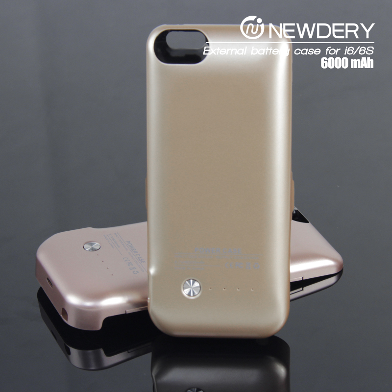 2016 Hot selling product slim portable battery case for iphone 6&iphone 6s waterproof battery case cover for galaxy s4