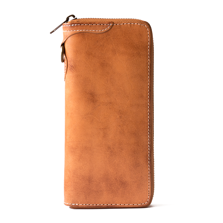 Vegetable Tanned Leather Wallet/Long Wallet Men/Brown Wallet Leather