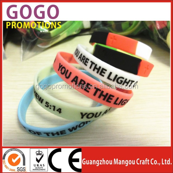 Wholesale silicone rubber arm band/silicone rubber bracelet for gifts/silicone hand band for promotional gifts