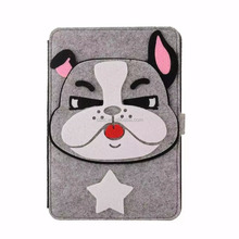 So cute Cartoon leather sheath three-dimensional for mini IPAD case