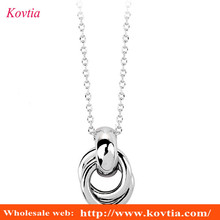 White gold necklace without stones imitation jewelry pendent necklace accessories 2016