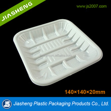 1414 PP meat tray packaging/party tray food container disposable,square plastic packaging containers, food tray