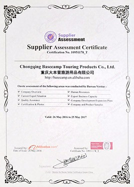 Supplier assessment 2017