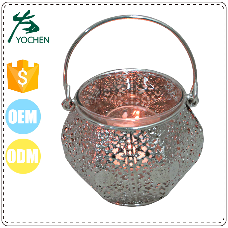 Table Stand Metal Iron Tealight Candle Holder with Punching