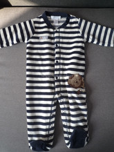 bamboo long sleeve baby romper with footie