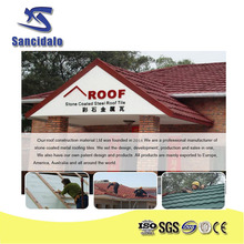 2016best Quality Roman Shingle Building Materials Stone Coated Roof Tile For building