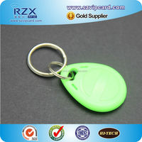 custom rfid key fob waterproof ring epoxy access proximity key tag with MIFARE chip