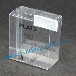 superior printed plastic gift and craft clear pvc packaging box