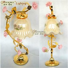 2012 Artistic Fresh Rose Table Lamp, Italy Light Table Lamp, Table Pendant Light Decoration Lighting
