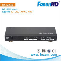 4 input to 2 output HDMI Matrix & Switcher, with audio extraction(Coaxial and optical)& ARC(Audio Return Channel)