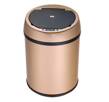 mini table office paper disposal motion sensor infrared  dustbin