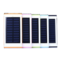 2016 Solar Power Bank 8000mAh Waterproof Powerbank Cargador Portable Solar Charger for iPhone iPod iPad for Samsung Cell Phones
