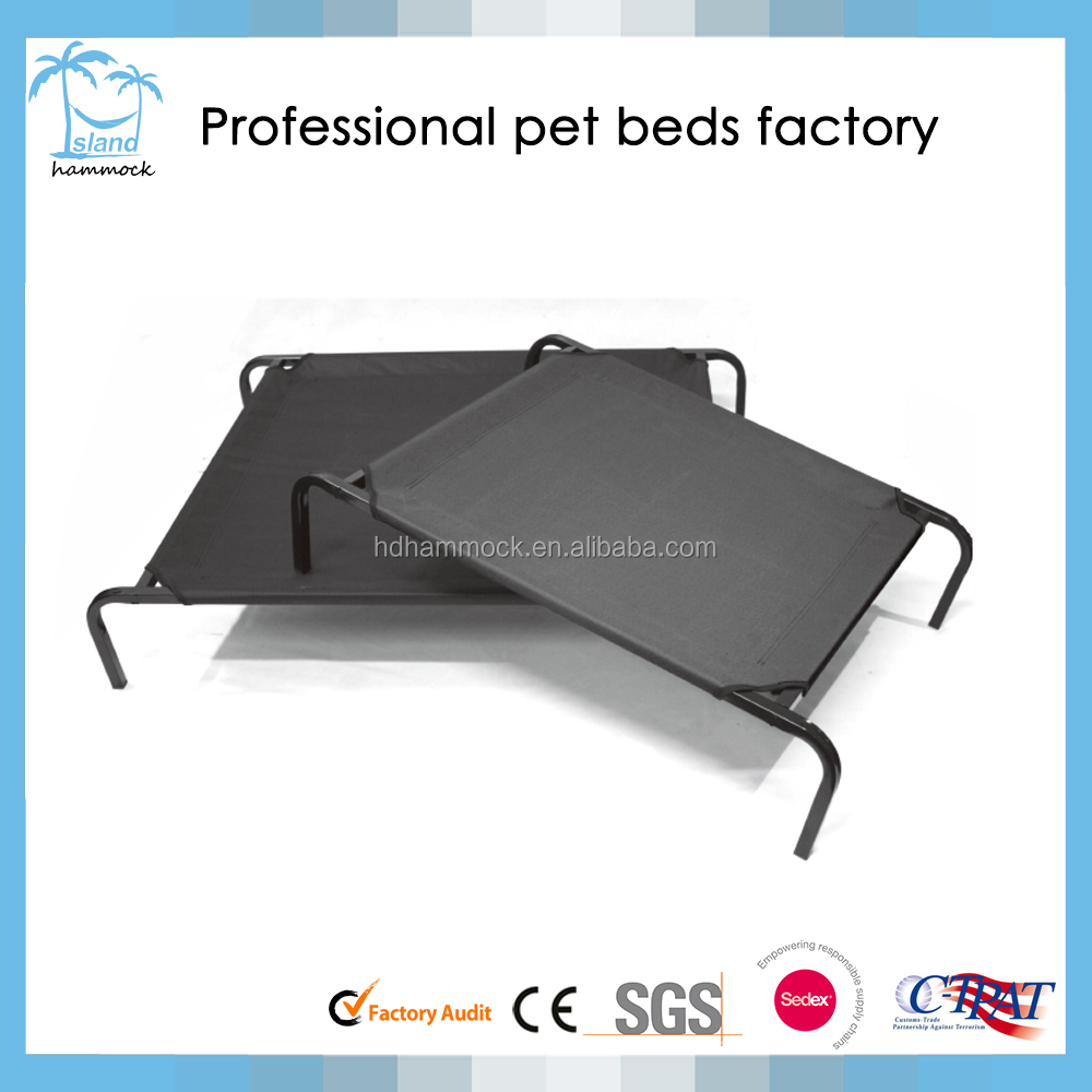 Elevated pet bed trampoline indoor/outdoor portable