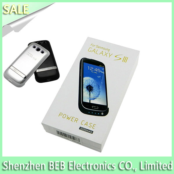 On sale 3200mah charger case for samsung galaxy s3 i9300