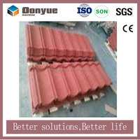 Galvalume Material and Plain Roof Tiles Type hot sale green color stone coated