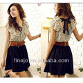 2015 summer short sleeve summer dress polka dots pattern 2792