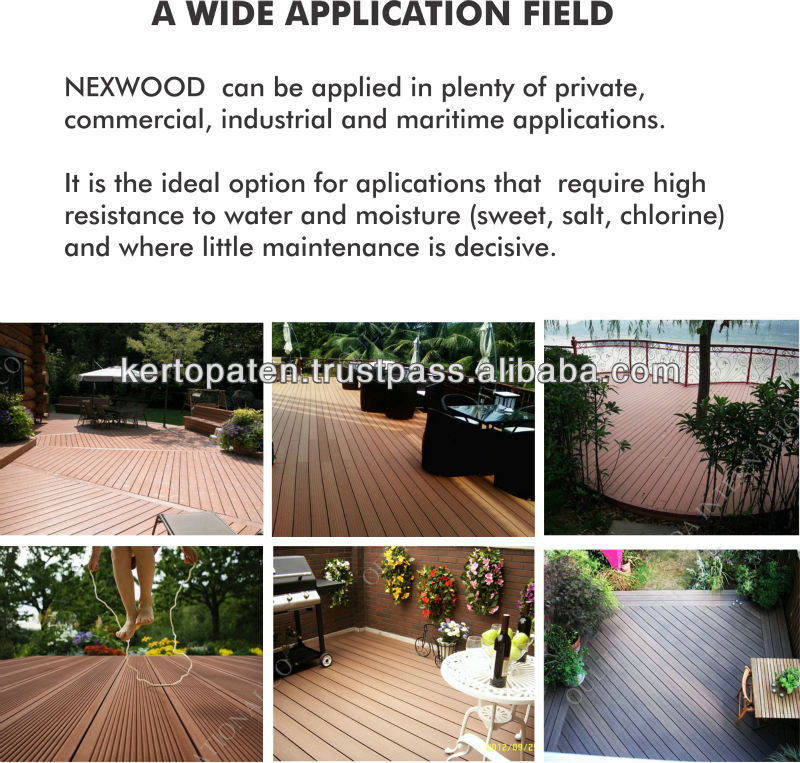Stain Free Wood Plastic Composite Decking