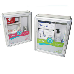 Empty Aluminum First Aid Kit Box Wall Mounted First Aid Box, First Aid Case