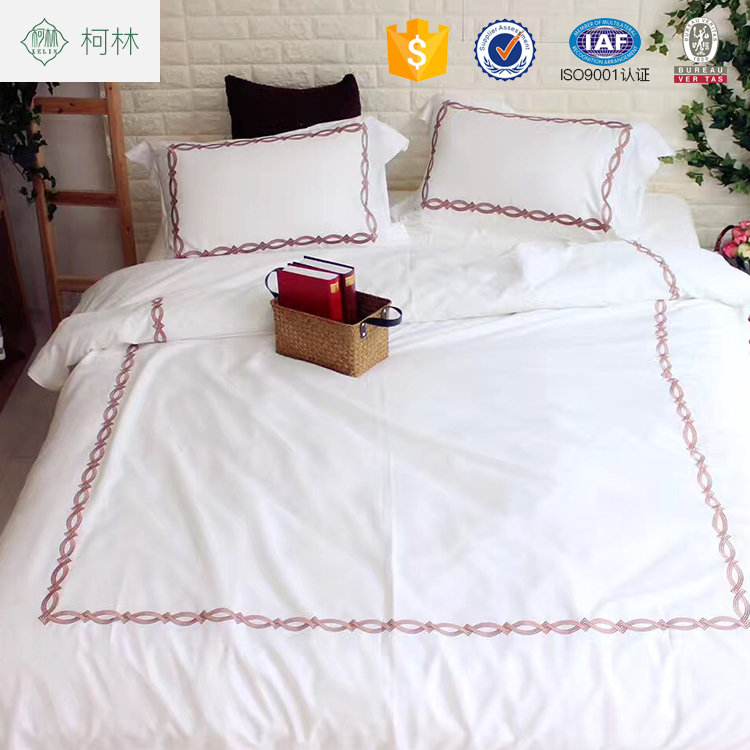 Home textile 100% cotton fantasy embroidery bed sheets bedding set