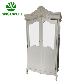 (W-CB-5060) antique french wood dressing cupboard with mirror