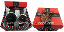 wholesale high quality leather strap couple watches for lovers