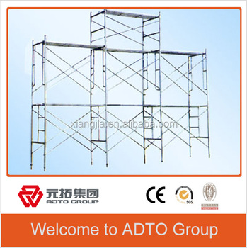 Portable pre-galvanized scaffolding gate frame for building for africa