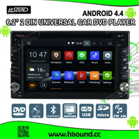 6.2'' touch screen universal android car dvd player with bluetooth/gps/3g and wifi