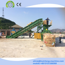 Hydraulic horizontal rags baling press machine / used clothing baling press machine / wool bale