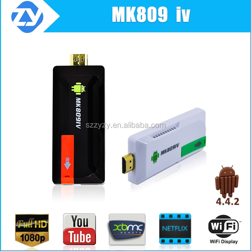 Factory supply mk809 iv rk3188 quad core android 4.4 mini pc smart tv dongle skype facebook iptv chromecast supported