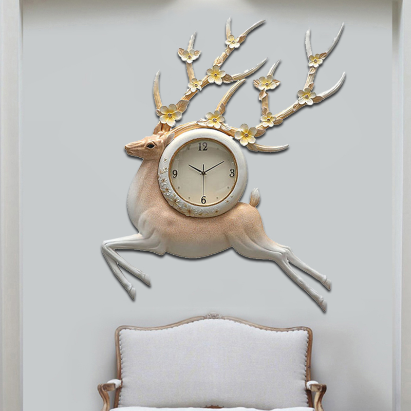 NEW PRODUCT PROMOTION DISCOUNT! Exquisite Wall Hanging Clock, 3D Relief Wall Art Reindeer Clock