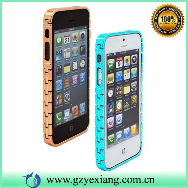 2014 hottest Metal Frame Bumper Case For Iphone5/5S in Watch Chain Style