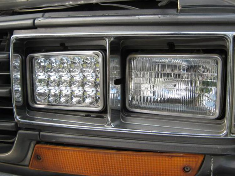 "Super bright 5"" inch 4x6inch high low beam led headlights for excavator truck 4x4"