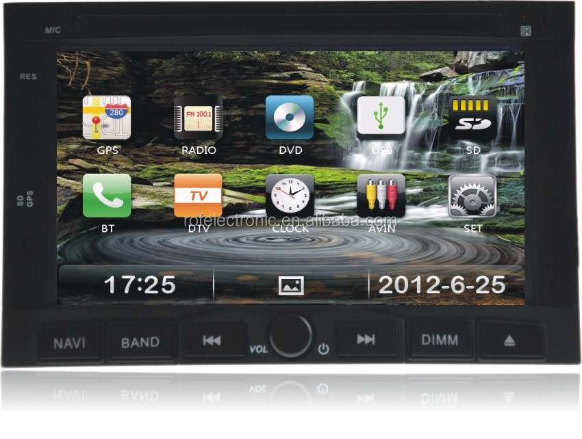 "7"" Car DVD Player with GPS Navigation For Peugeot 307(2002 to 2010),3008(2009 to 2011)"