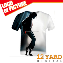 New selling sublimation print Michael Jackson souvenir 3d short sleeve men's t shirt