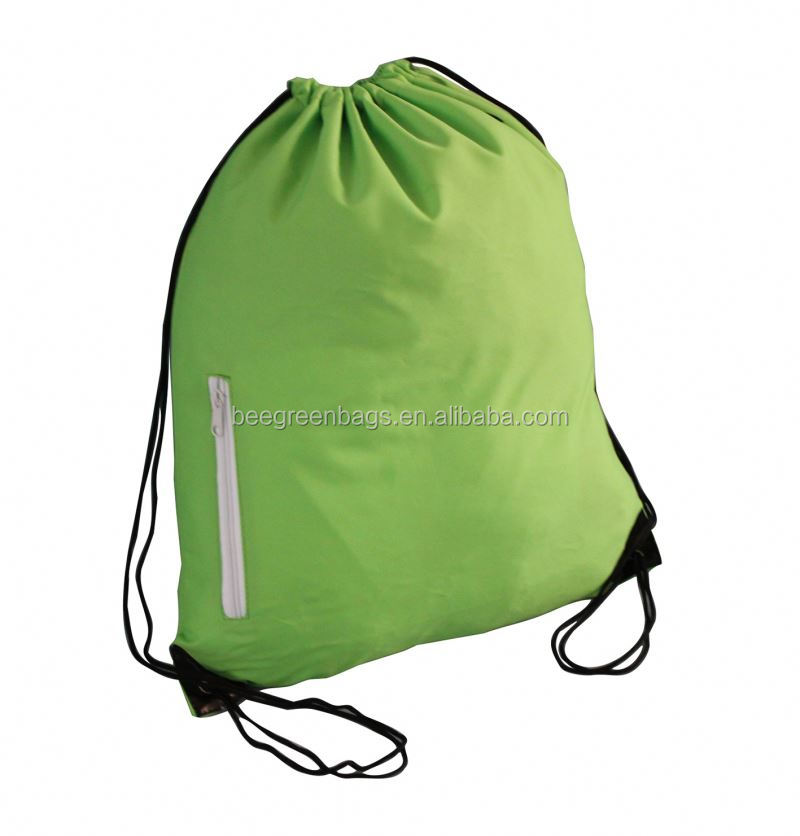 Reusable draw string gym back pack printed your logo