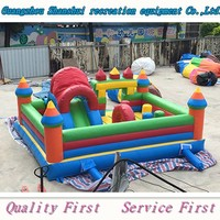 Giant inflatable slide combo playground outdoor bouncer castle for sales