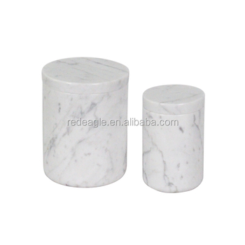 Wedding or Home Decoration Marble Candle Jar With Lid