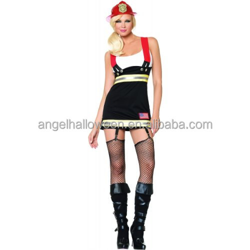 Sexy woman firefighter costume hot sale halloween costume AGC2487