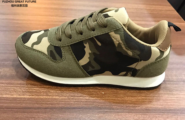 New Arrival Fashionable Promotional Women Camouflage Pattern Shoes