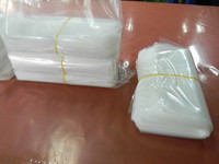 Rubber Band Packed Food grade Rectangle LDPE Plastic Bags